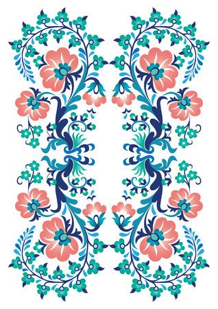 een borduurwerk ontwerp gemaakt in de oude Turkse motieven