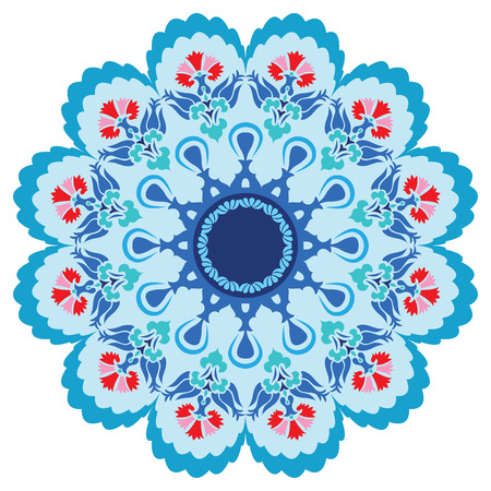 anatolia: blue series is designed using the old patterns anatolia Illustration