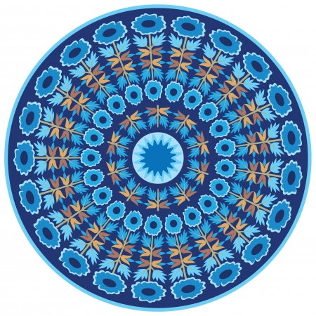 blue series is designed using the old patterns anatolia Illustration