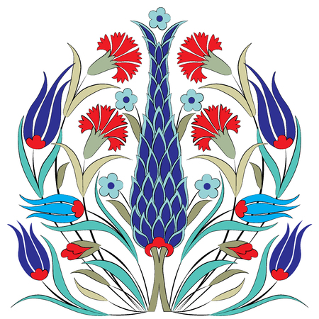 tulip: series of patterns designed by taking advantage of the former Ottoman Illustration