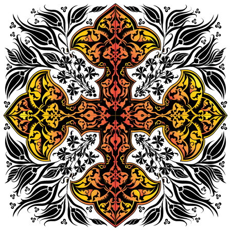 anatolia: black series is designed using the old patterns anatolia Illustration