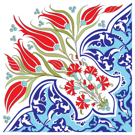 motif pattern: blue series is designed using the old patterns anatolia Illustration