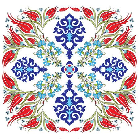 blauw-serie is ontworpen met behulp van de oude patronen anatolia Stock Illustratie