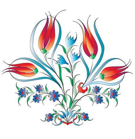creado con la tradicional serie patrón de motivos Otomano Ilustración de vector