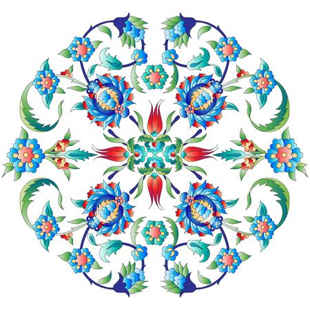 Versies van Ottomaanse decoratieve kunst, abstracte bloemen