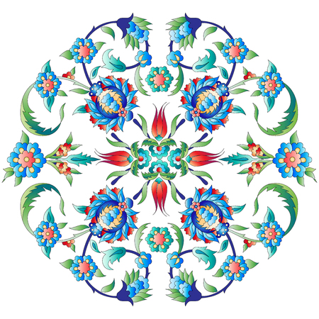 Versions of Ottoman decorative arts, abstract flowers