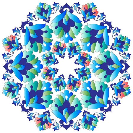 retrospective: Versions of Ottoman decorative arts, abstract flowers