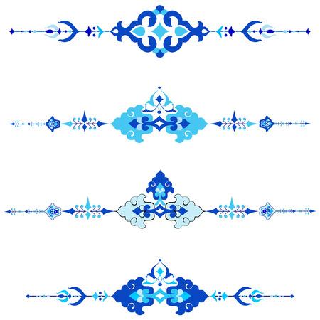 Sierlijst patroon getekend in de oude stijl
