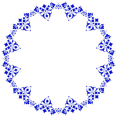 Decorative frame pattern drawn in the old style Vector