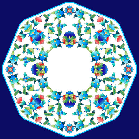 versions: Versions of Ottoman decorative arts, abstract flowers