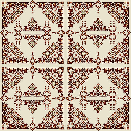 Series of patterns designed using the old Ottoman motifs Vector