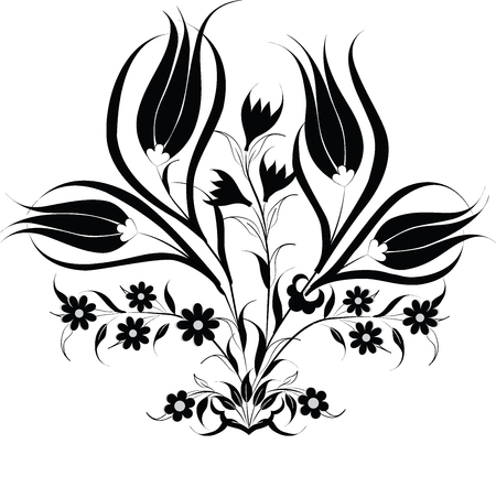 created with traditional Ottoman motifs pattern series