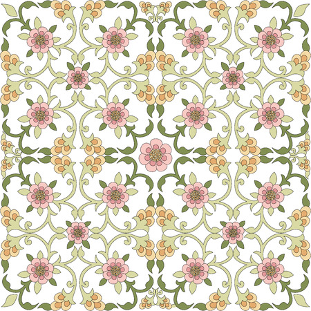 oriental background with floral motifs designed Vector