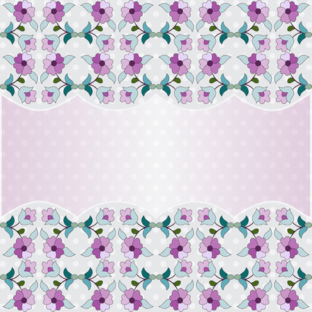 scored: oriental background with floral motifs designed Illustration