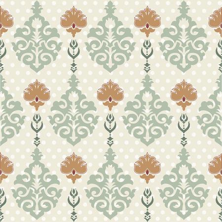oriental background with floral motifs designed Illustration