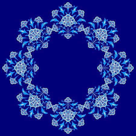 retrospective: Blue patterns series designed utilizing the old Ottoman motifs Illustration