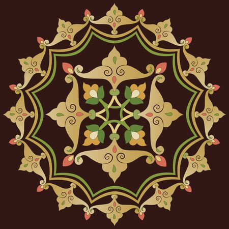 tints: Brown patterns series designed utilizing the old Ottoman motifs Illustration