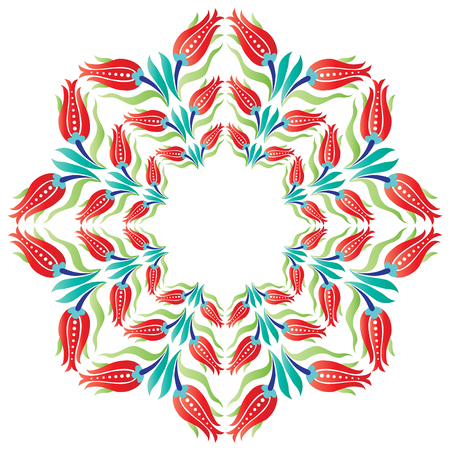 retrospective: decorative pattern series is designed with ottoman tulips Illustration