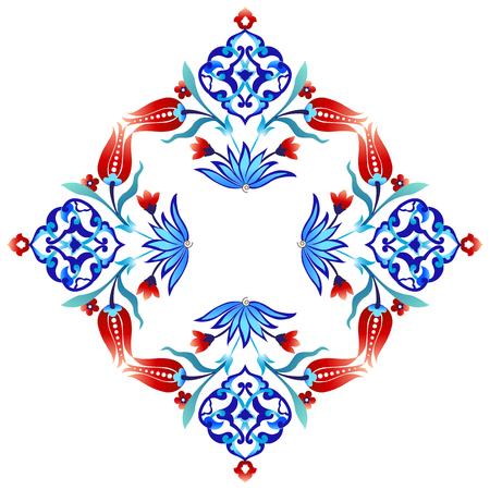 tulipan: dekoracyjny wzór seria jest zaprojektowana z otomana tulipanów