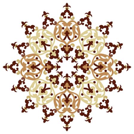 pattern antique: colorful antique ottoman turkish design pattern vector