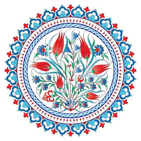Grenzen en frames zijn ontworpen met Ottomaanse motieven Stock Illustratie