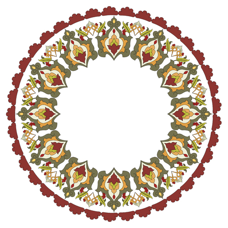 wallboard: colorful antique ottoman turkish design pattern  Illustration