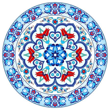 kleurrijke antieke ottoman Turks ontwerp patroon vector