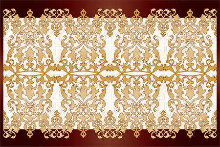 wallboard: Borders and frames are designed with Ottoman motifs