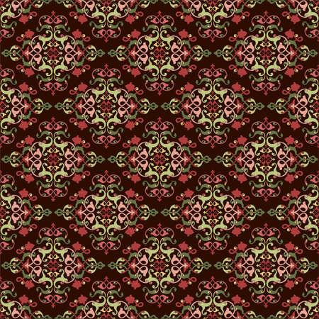 wallboard: colorful antique ottoman turkish design pattern