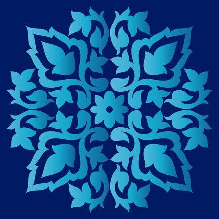 wallboard: colorful antique ottoman turkish design pattern vector