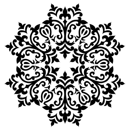 motifs: black and white antique Ottoman Turkish design motifs vector Illustration