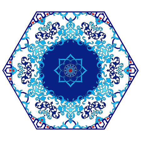 ottoman: colorful antique ottoman turkish design pattern vector