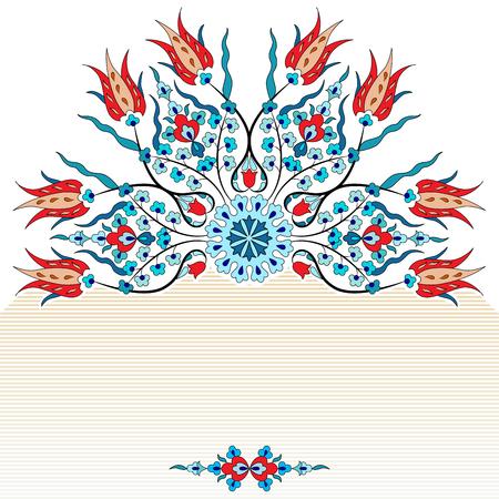 colorido antiguo otomana de diseño turco vector patrón