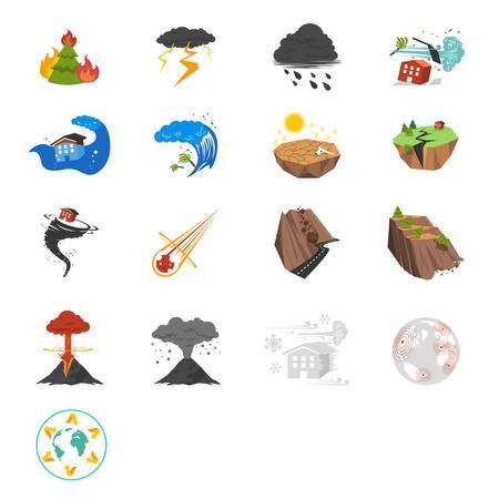 Catastrophe coloré et catastrophe liée illustration vectorielle pour votre conception et l'application Banque d'images - 24366430