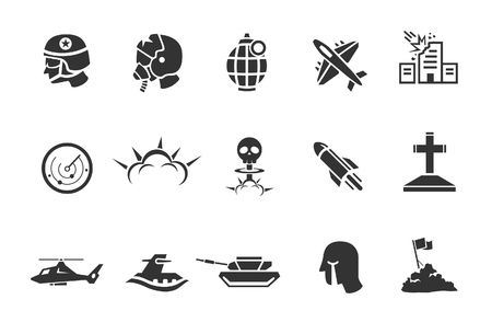 bombing: Military and war icons - Illustration