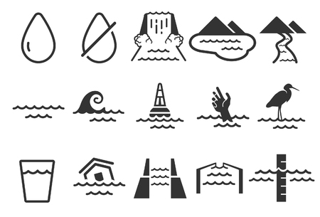Water icons - Illustration