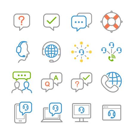 Customer service icons - Illustration  イラスト・ベクター素材