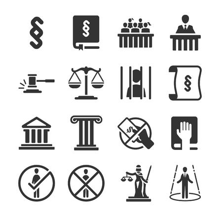 courthouse: Law icons - Illustration Illustration