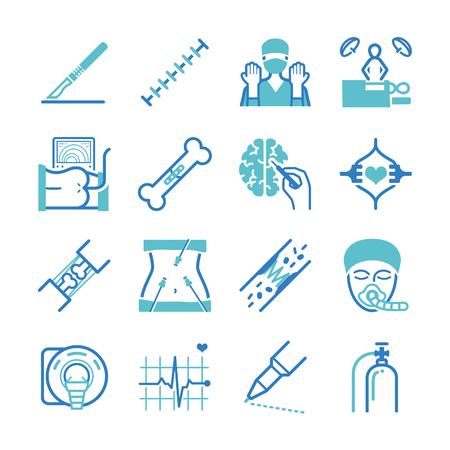 Surgical icons set - Illustration