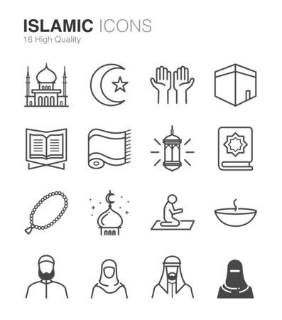 Islamic icons - Illustration Illustration