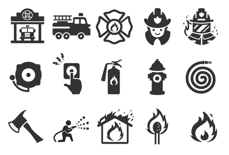 Fire Department icons - Illustration - Illustration