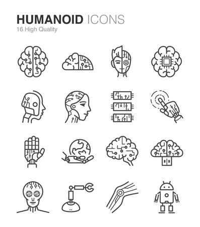 droid: Humanoid, Droid and Artificial Intelligence icons