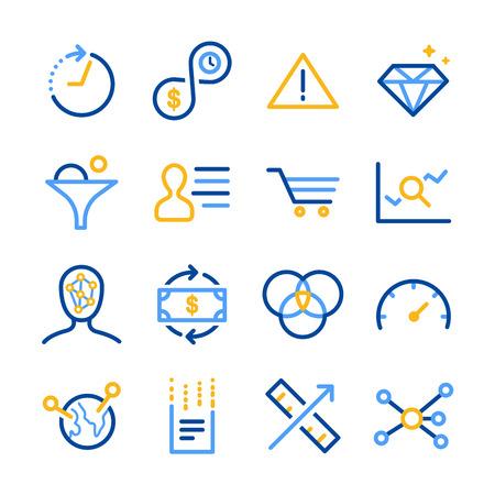 profile measurement: Analytics icon set - Illustration