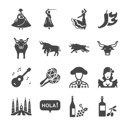 Spain icons - Illustration
