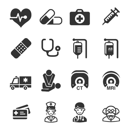 control of body movement: Health Care Icons - Medical Illustration - Illustration
