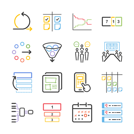 Stock Vector Illustration: Agile icon set - Illustration