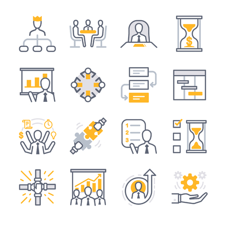 Business Management icons - Illustration
