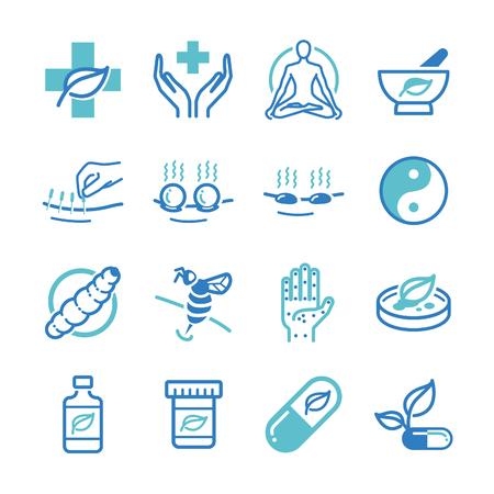 Kraut und Alternative Medizin Symbole - Illustration