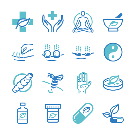 Herb and Alternative Medicine icons - Illustration