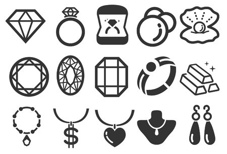 opal: Stock Vector Illustration: Jewelry icons - Illustration